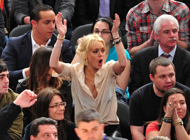 Lindsay Lohan Latest Pics At Madison Square Garden
