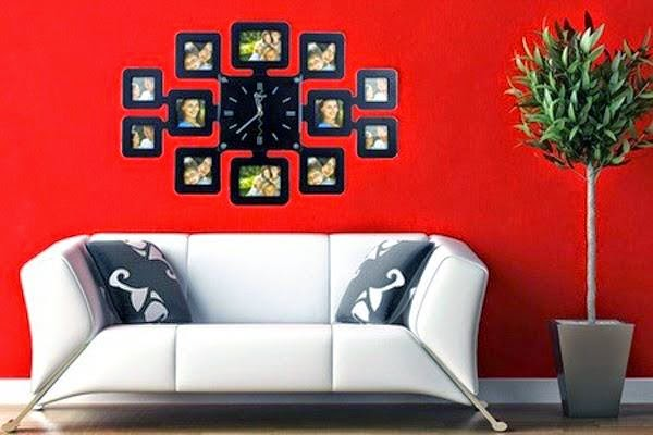 Fashion Wall Clock with 12 pcs Photo Frame Limited Edition FREE