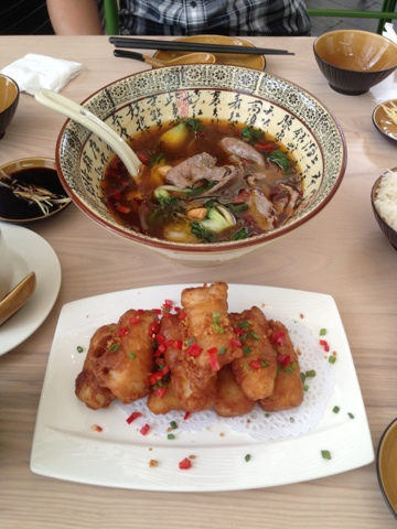Fish Fillet in Spicy Salt, Spicy Beef Soup, Paragon, Bangkok, thailand