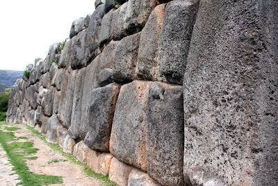 Rock walls at Sacsayhuaman in Cuzco Peru