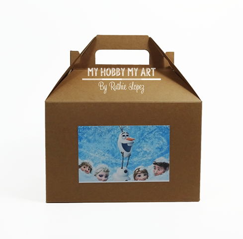 Lunch Box, Gable Box, Personalized treat box, Personalized Gable Box, Frozen Themed birthday party, Ruthie Lopez 3