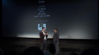 Photo: The opening night of Decor at London Film Festival BFI 2014. From Left Cretic Ali Jaafar, Ahmad Abdalla.