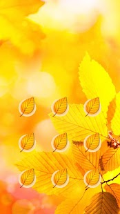 Autumn APP Lock Theme Fall Leaf Pin Lock Screen - náhled
