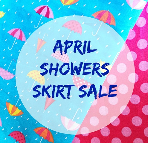 April Showers Skirt Sale Flyer