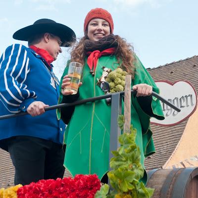 Auggener Karnevalsprinz (Oberschlawiner) mit Markgräfler Weinprinzessin