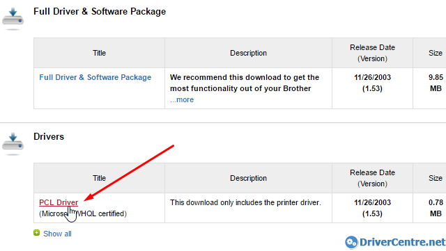 complete download Brother MFC-9450CDN printer driver