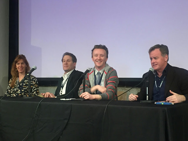 Actor Paul Cram at MSPIFF panel with Kate Nowlin, Peter Moore, and Patrick Coyle