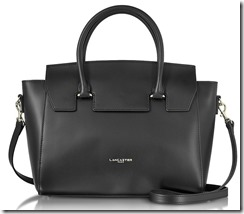 Lancaster Paris Leather Handbag with Detachable Long Strap