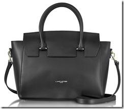Lancaster Paris Leather Handbag with Detachable Long Strap