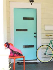 porta colorida azul turquesa