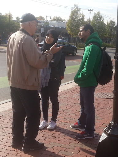 Ray sharing Christ with a Muslim Couple.