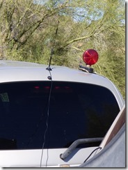 Wilson Antenna on Car with wire coming into RV