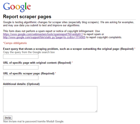 google-documenti-report-scaper-pages