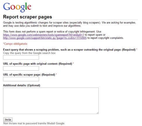 google-documenti-report-scaper-pages