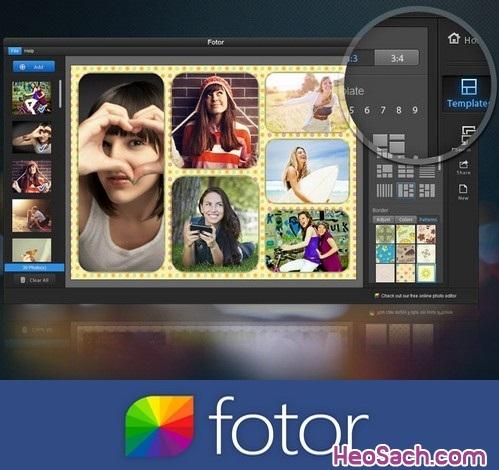Hình 2 - Hướng dẫn cách sử dụng phần mềm ghép ảnh Fotor