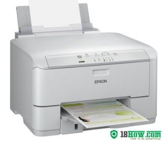 How to reset flashing lights for Epson WorkForce WP-4011 printer