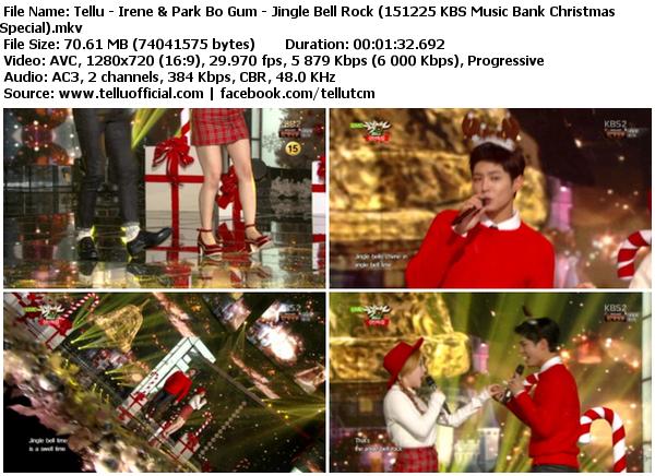 Download Perf Irene & Park Bo Gum – Jingle Bell Rock @ KBS Music Bank Christmas Special 151225