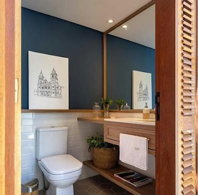 Ruang kamar mandi industrial ala cape