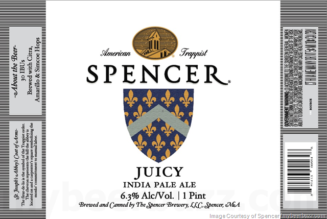 Spencer Trappist Brewery - Juicy IPA 16oz Cans