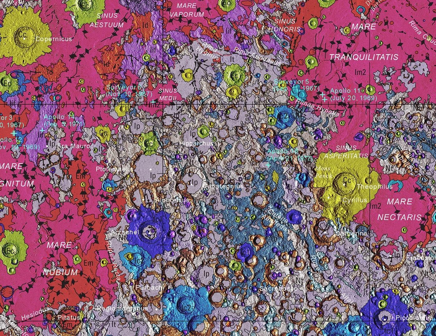 Eine geologische Mondkarte