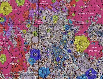 Oha, eine geologische Karte vom Mond | Wunderschön und interessant