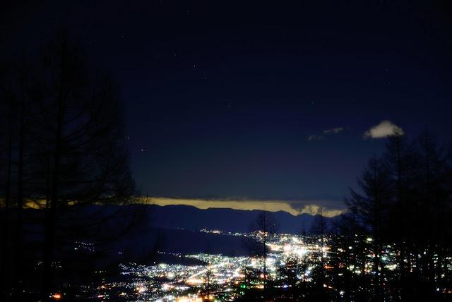 ニコンD610 甘利山 夜景