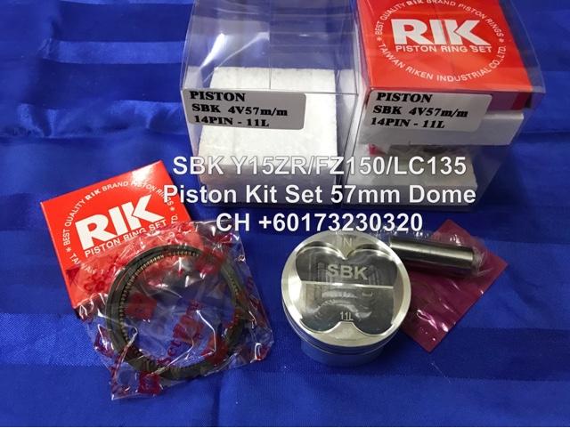 CH Motorcycle Store: SBK LC135 / Y15ZR / FZ150 Piston Kit