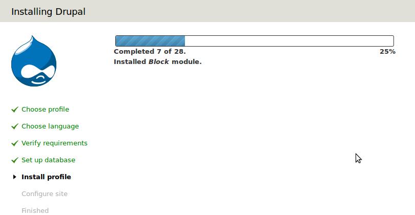 Drupal 7 Website Install