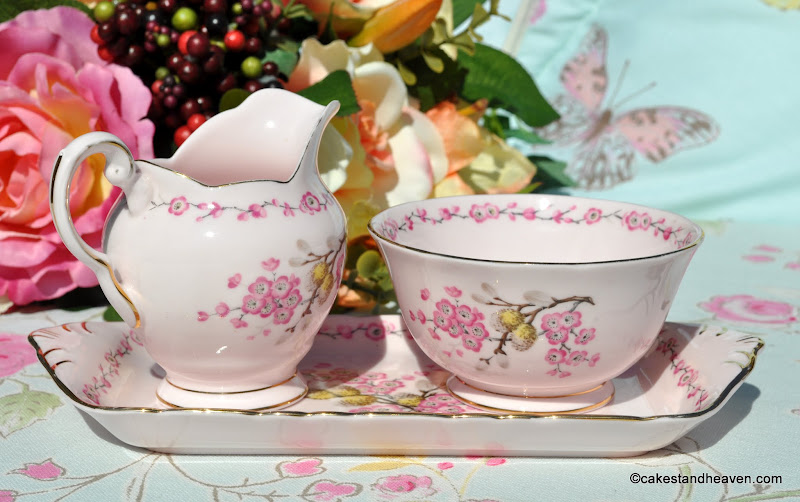 Pink floral English vintage bone china by Tuscan