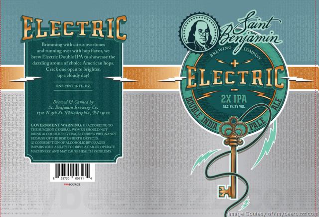 Saint Benjamin Electrinc 2X IPA 16oz Cans
