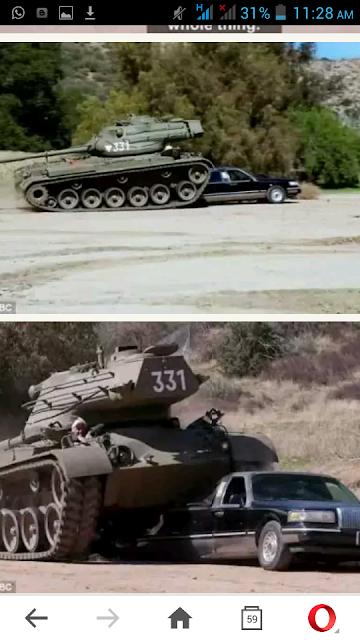 Arnold Schwarzenegger Crushes Limousine With A 50-ton Armored Tank (Photos)