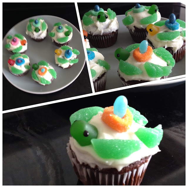 Michele 39 s nw studio green sea turtle cupcakes for Chocolate fudge cream cheese frosting