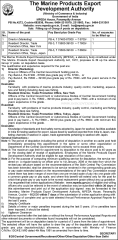 MPEDA Deputation Vacancy 2016 indgovtjobs