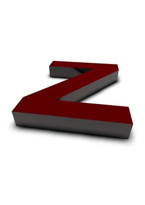lettre 3D rouge de Chine - Z - images libres de droit