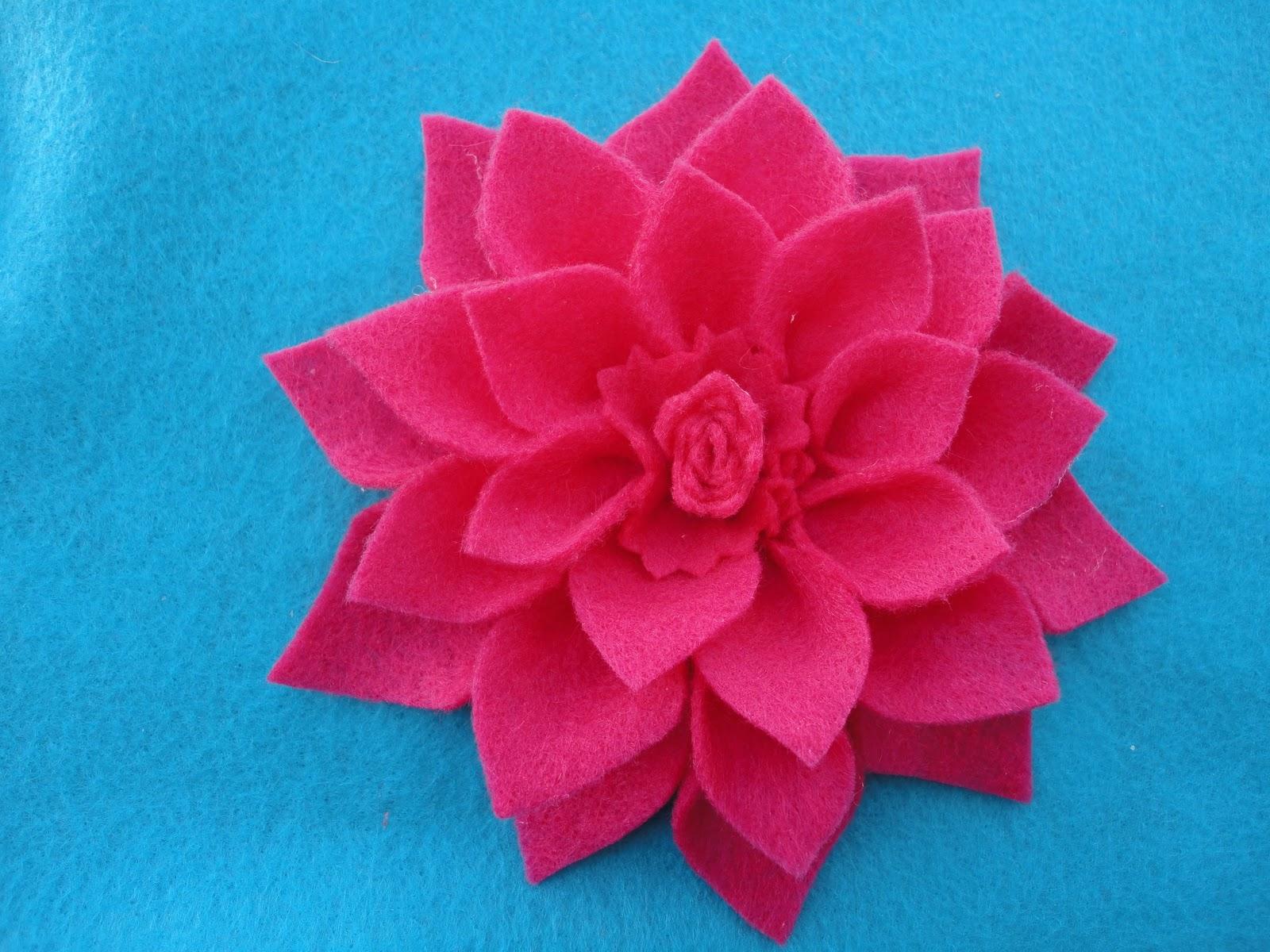 Felt Dahlia Flower Template