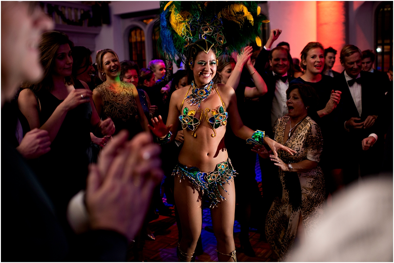 Brazilian dancers at a wedding