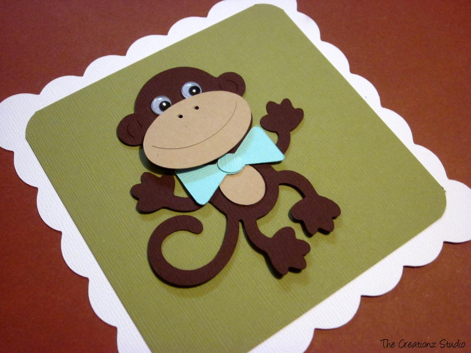 Baby Monkey Template Monkey baby shower invitation