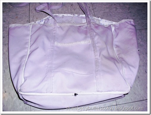 Purple and Lace Bag Upgrade, Adding a New Lining