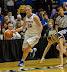 Megan Podkowa #30 shakes her defender (NCAA Women's Basketball: DePaul 56 vs. Notre Dame 84, McGrath-Phillips Arena, Chicago, IL, February 25, 2013)