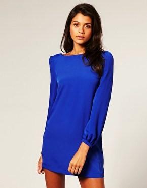 Asos vestido azul klein