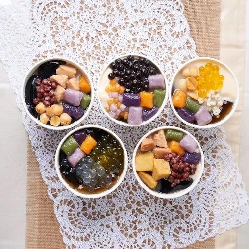 Nine Fresh dessert bowls