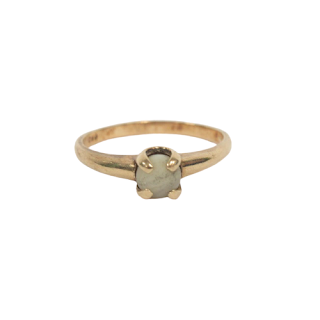10K Gold and White Stone Ring