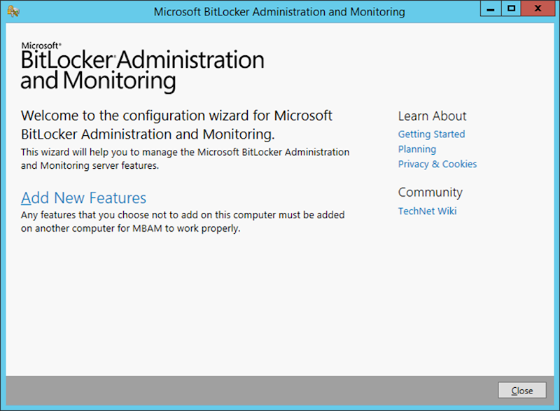 How to integrate BitLocker (MBAM) with Configuration Manager 2016