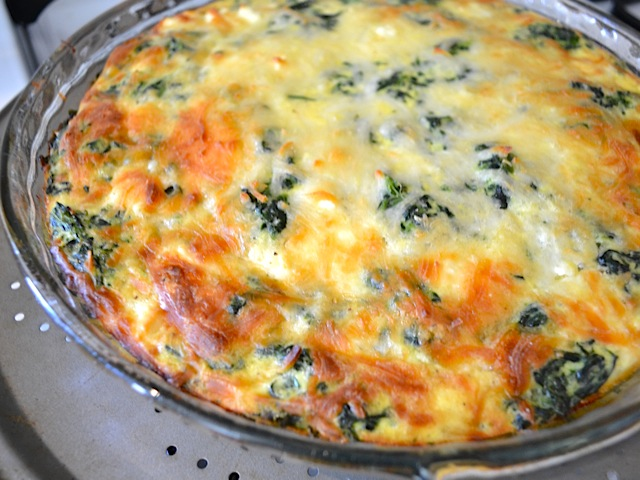 This easy and delicious for Spinach Mushroom and Feta Crustless Quiche ...
