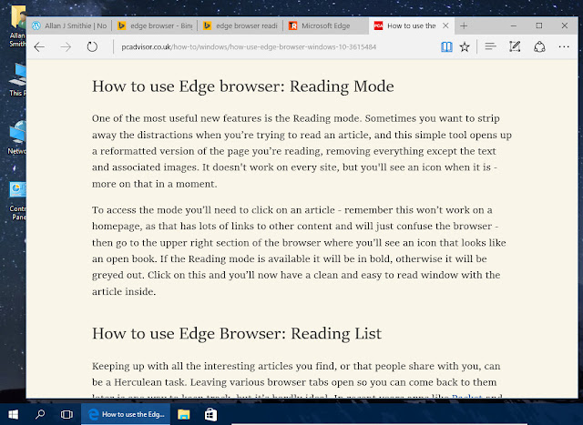 Microsoft Edge - Reading View