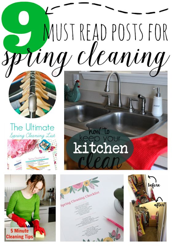 9 Must Read Posts for Spring Cleaning #springcleaning #gingersnapcrafts