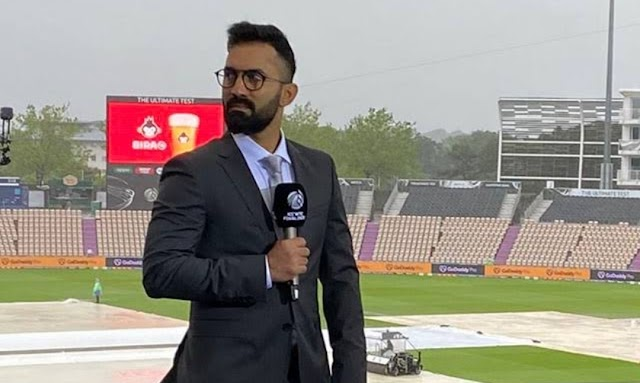 Dinesh Karthik the commentator top of the Lot... He's just gushing with storm