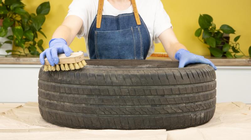 Limpia el neumático