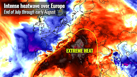 Severe Weather Europe : Ίσως το ισχυρότερο κύμα καύσωνα του 2021 - Στην Ελλάδα η θερμοκρασία αναμένεται να φτάσει στους +45°C