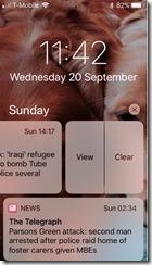 iOS 11 Notifications Screen